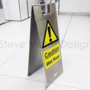 Elite Stainless Steel Wet Floor Signs