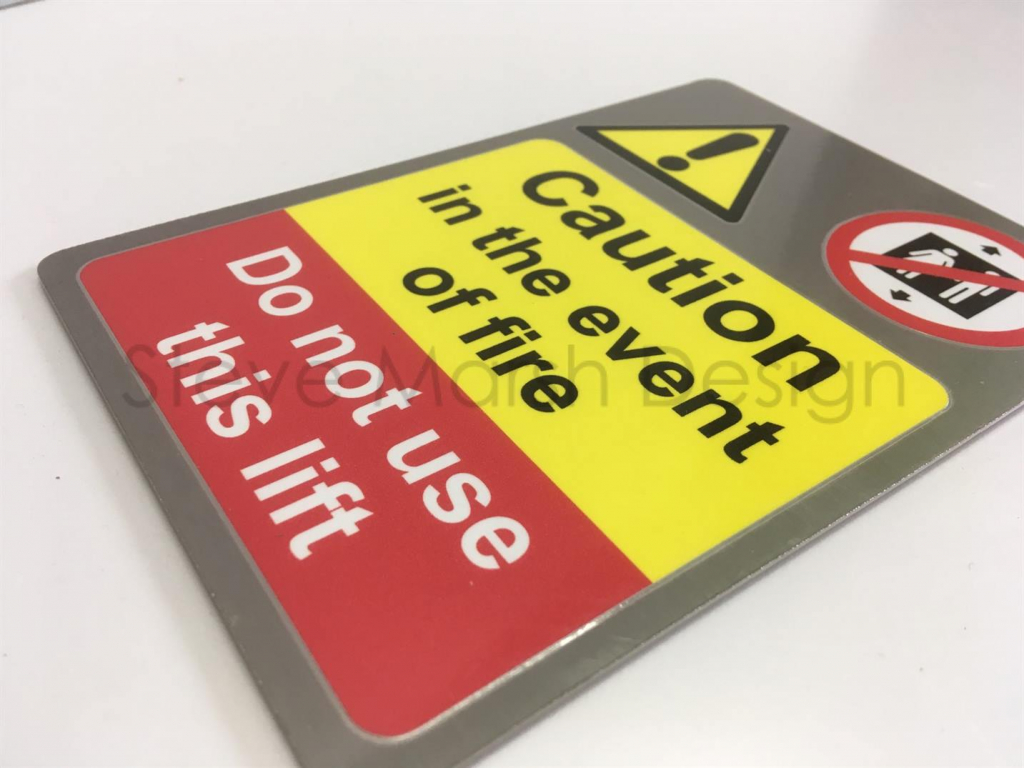 Not Use The Lift Caution Sign Stainless Steel